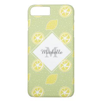 ライムグリーンレモンパターン iPhone 8 PLUS/7 PLUSケース