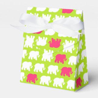 ライムグリーン及びピンク象の好意箱 フェイバーボックス