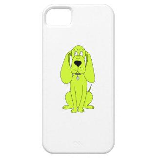 ライムグリーン犬。 かわいい猟犬の漫画 iPhone SE/5/5s ケース