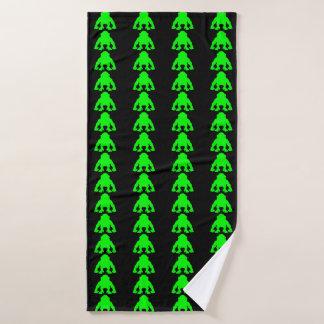 ライムグリーン猿タオル バスタオル