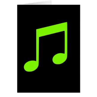 ライムグリーン音楽カード カード