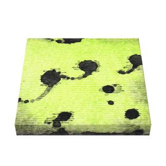 ライムグリーン、水彩画のしぶき キャンバスプリント