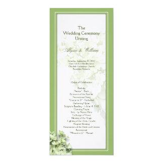 ライムライトの高いアジサイの結婚式プログラムのテンプレート 10.2 X 23.5 インビテーションカード
