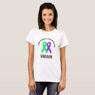 ライム病および線維筋痛の戦士のワイシャツ Tシャツ