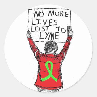 ライム病のステッカーに失ったこれ以上の生命 ラウンドシール