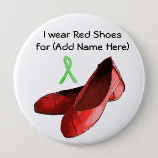ライム病の認識度のための赤い靴日ボタン 缶バッジ