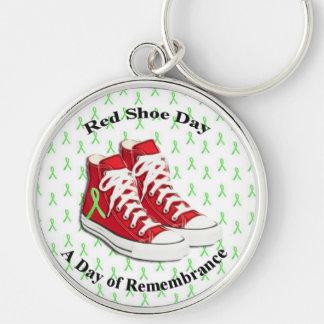 ライム病の認識度のための赤い靴日Keychain キーホルダー