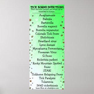 ライム病の認識度のカチカチポスター ポスター
