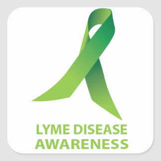 ライム病の認識度のステッカー スクエアシール
