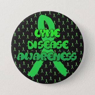 ライム病の認識度のリボンボタン 缶バッジ