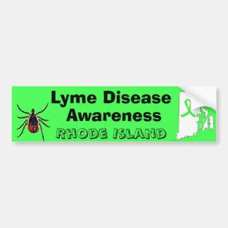 ライム病の認識度のロードアイランドのバンパーステッカー バンパーステッカー