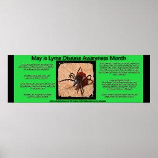 ライム病の認識度の事実ポスター ポスター