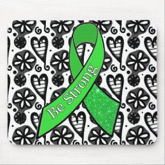 ライム病の認識度は強いリボンのマウスパッドです マウスパッド