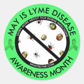 ライム病の認識度月のカチカチのステッカー ラウンドシール
