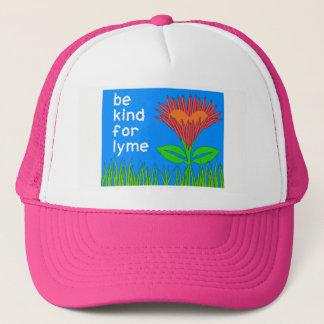 ライム病の認識度-春のトラック運転手の帽子 キャップ