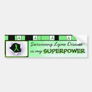 ライム病の超出力のバンパーステッカーを生き延びること バンパーステッカー
