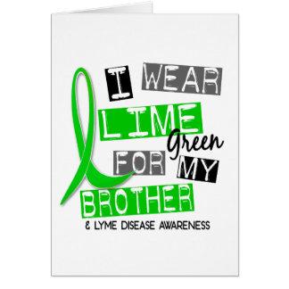 ライム病私は私の兄弟37のためのライムグリーンを身に着けています カード