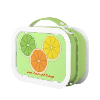 ライム、レモンおよびオレンジ ランチボックス