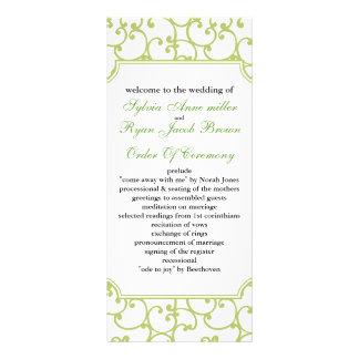 ライム|結婚|プログラム ラックカードテンプレート