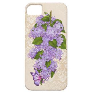ライラックの蝶 iPhone SE/5/5s ケース