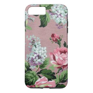 ライラック及びバラの壁紙のプリント iPhone 8 PLUS/7 PLUSケース