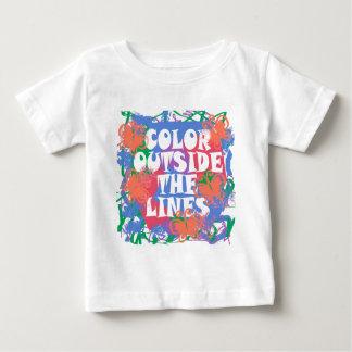 ラインの外の色 ベビーTシャツ