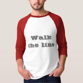 ラインは歩きます Tシャツ