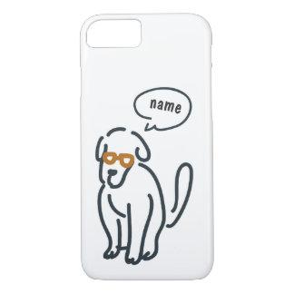 ラインスケッチ-話すdoggi iPhone 8/7ケース