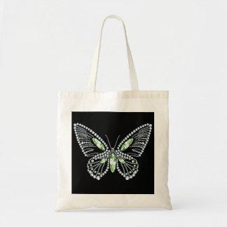 ラインストーンの蝶トートバックのダイヤモンドのデザイン トートバッグ