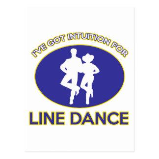 ラインダンスのデザイン ポストカード