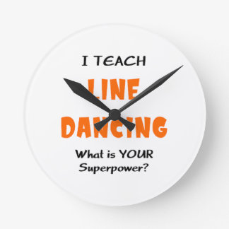 ラインダンス教えて下さい ラウンド壁時計