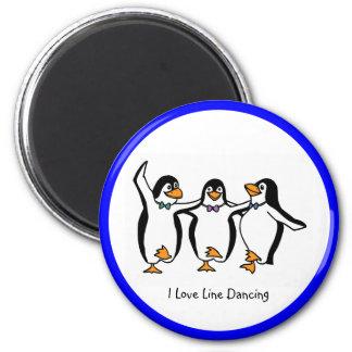 ラインダンス: 踊りのペンギン マグネット