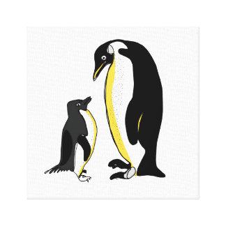 ラインペンギン キャンバスプリント