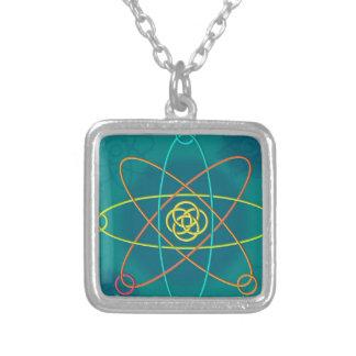 ライン原子構造 シルバープレートネックレス