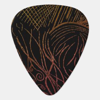 ライン逆上のギターピック(黄色及びオレンジ版) ギターピック