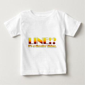 ライン!か。 (文字だけ) ベビーTシャツ