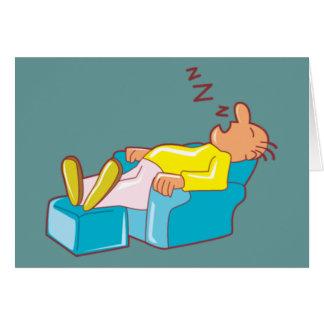 ラウンジチェアZZZで眠っている漫画の人 カード