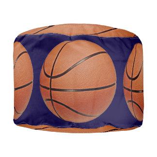 ラウンドパフのバスケットボール プーフ