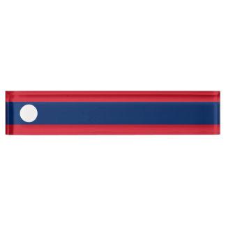 ラオスの旗 デスクネームプレート