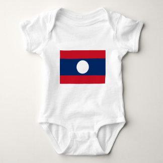 ラオスの旗 ベビーボディスーツ