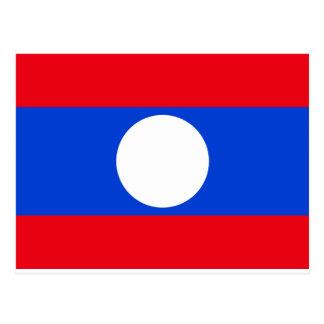 ラオスの旗 ポストカード