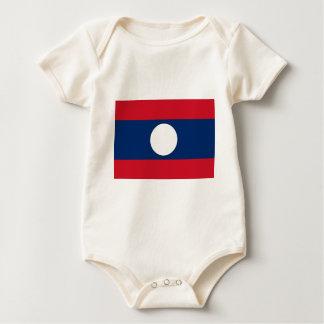 ラオスの旗-ラオスの旗- ທຸງຊາດລາວ ベビーボディスーツ