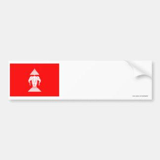 ラオスの旗(1952-1975年) バンパーステッカー