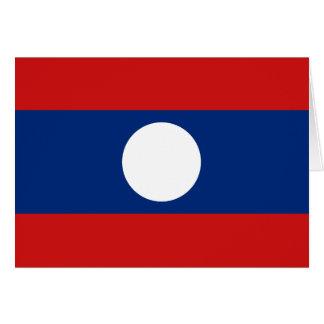 ラオスの旗Notecard カード
