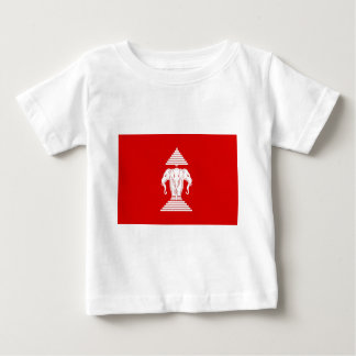 ラオス(1952-1975年)の- ທຸງຊາດລາວの旗 ベビーTシャツ