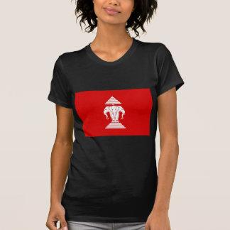 ラオス(1952-1975年)の- ທຸງຊາດລາວの旗 Tシャツ