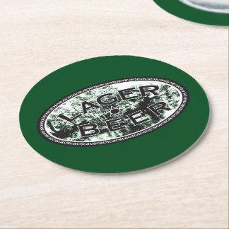 ラガービール-緑 ラウンドペーパーコースター