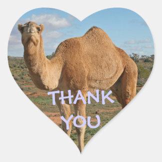 ラクダありがとう ハートシール