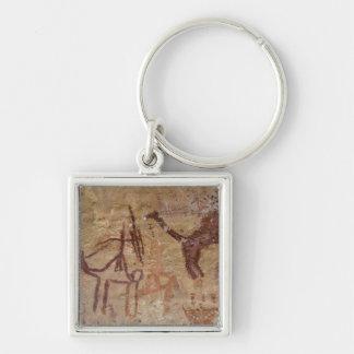 ラクダが付いている有史以前の石の絵画 キーホルダー