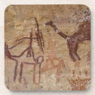 ラクダが付いている有史以前の石の絵画 コースター